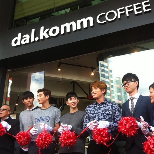 Congrats #DalKommCoffee on the launch! #2AM are here with us at the ribbon cutting ceremony :)